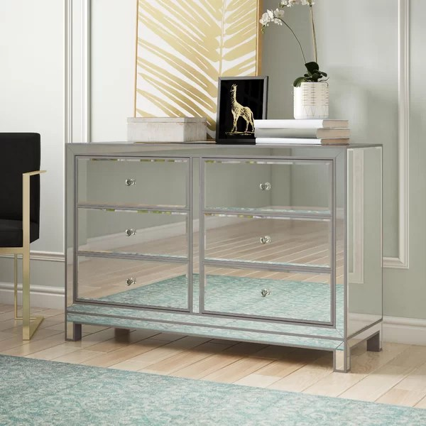 small mirrored dresser