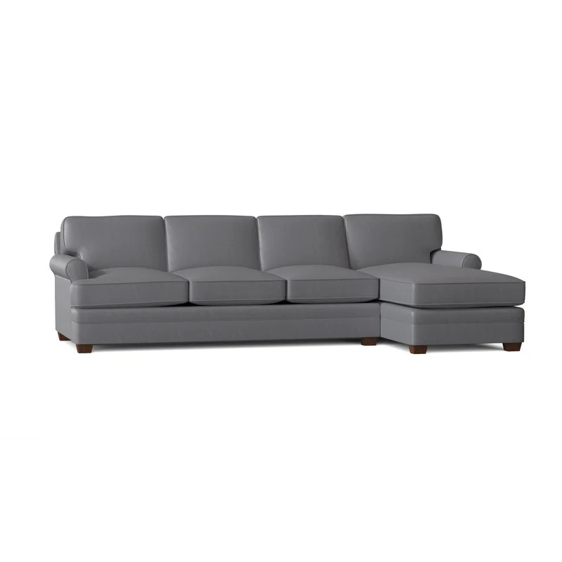 117 genuine leather sectional