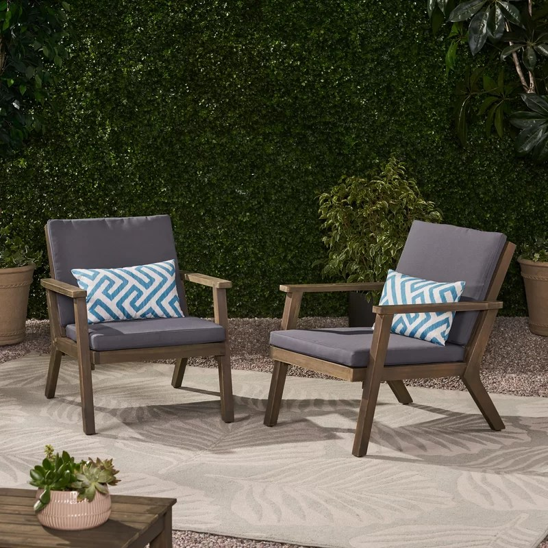 outdoor patio chair with cushions