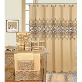 sage and brown shower curtain wayfair