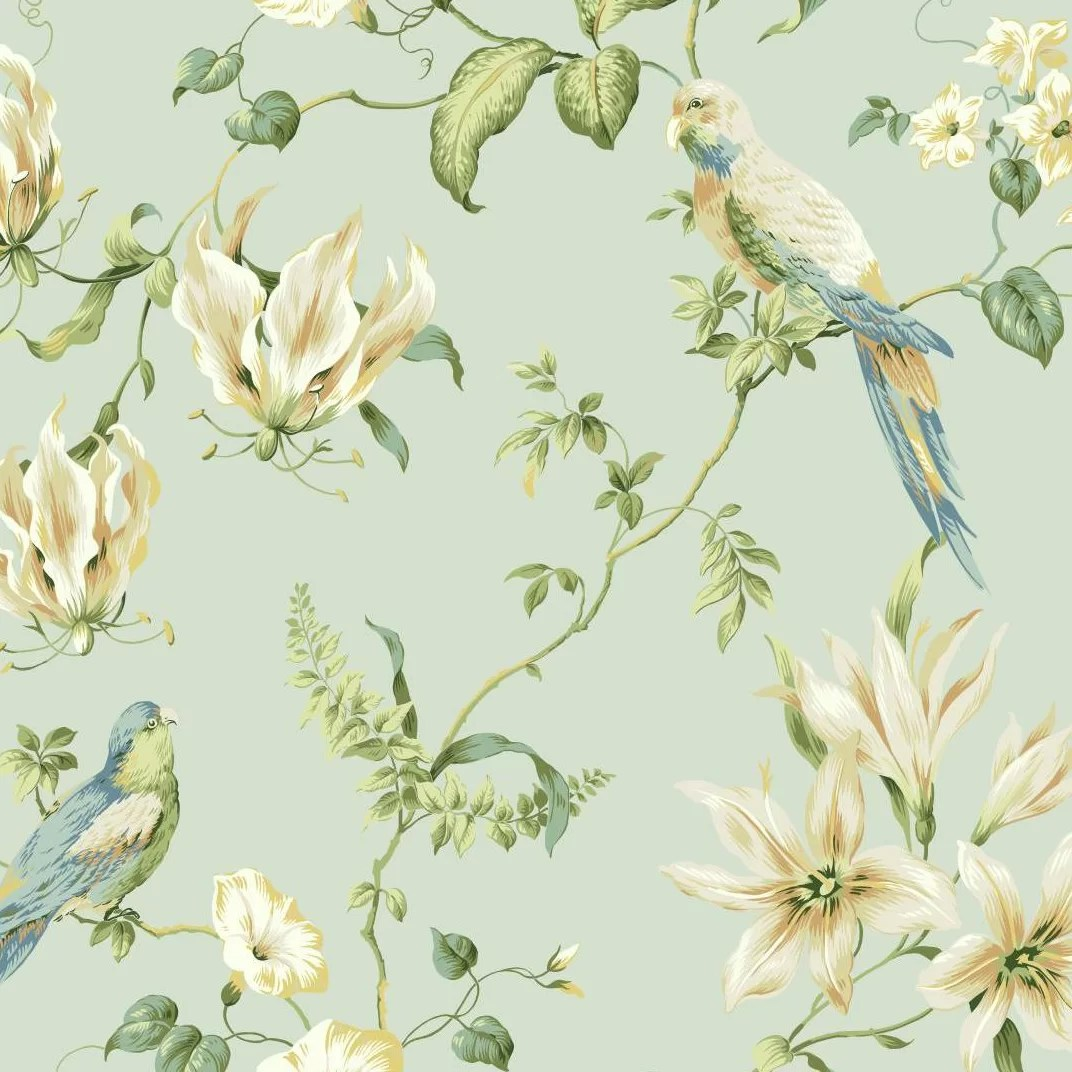 York Wallcoverings Casabella Ii Tropical 27 X 27 Floral And Botanical Wallpaper Reviews Wayfair