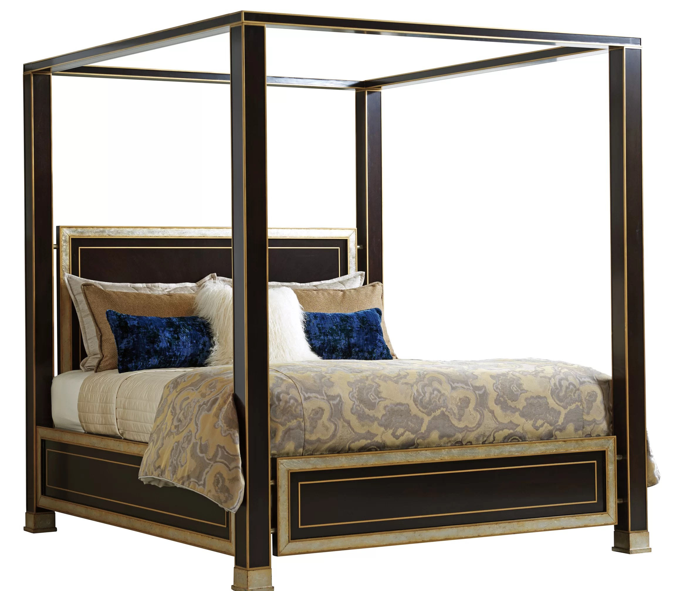 Lexington Carlyle Solid Wood Low Profile Standard Canopy Bed