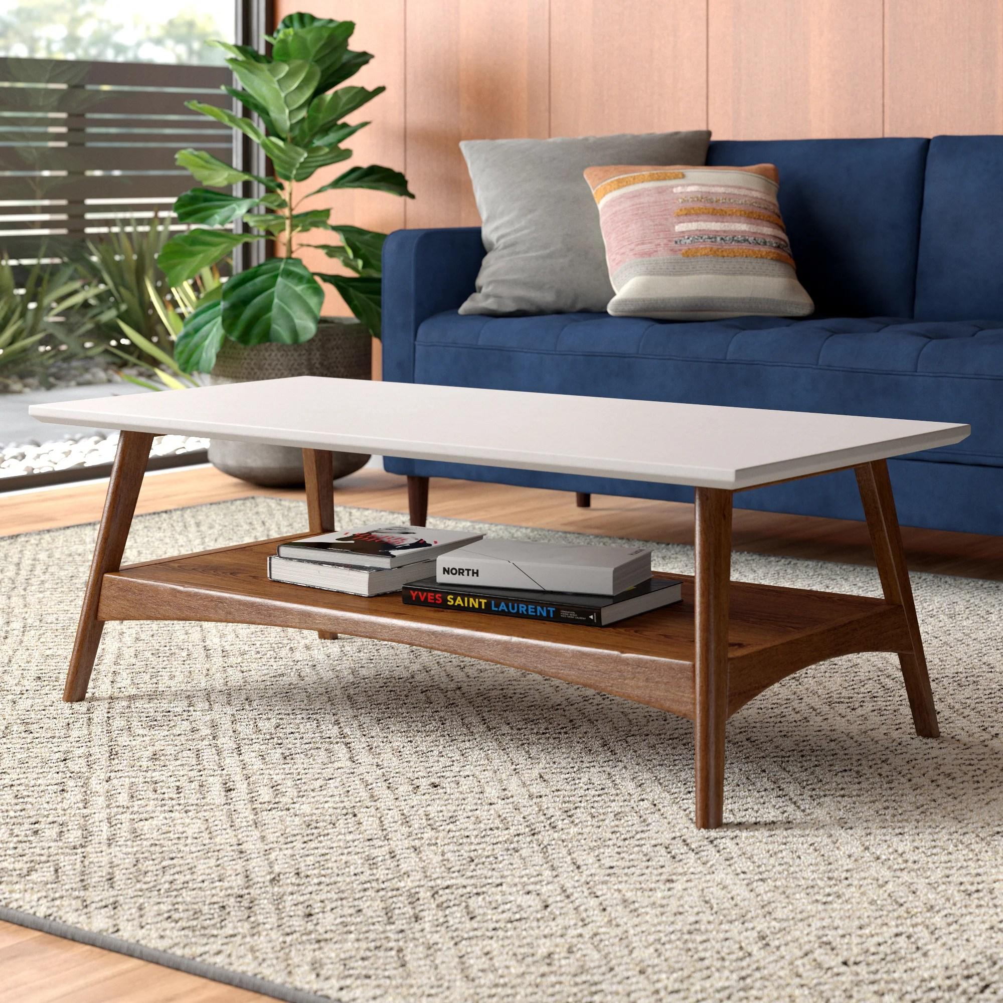 modern wood coffee tables allmodern