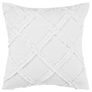 adelina white european pillow cover set of 2