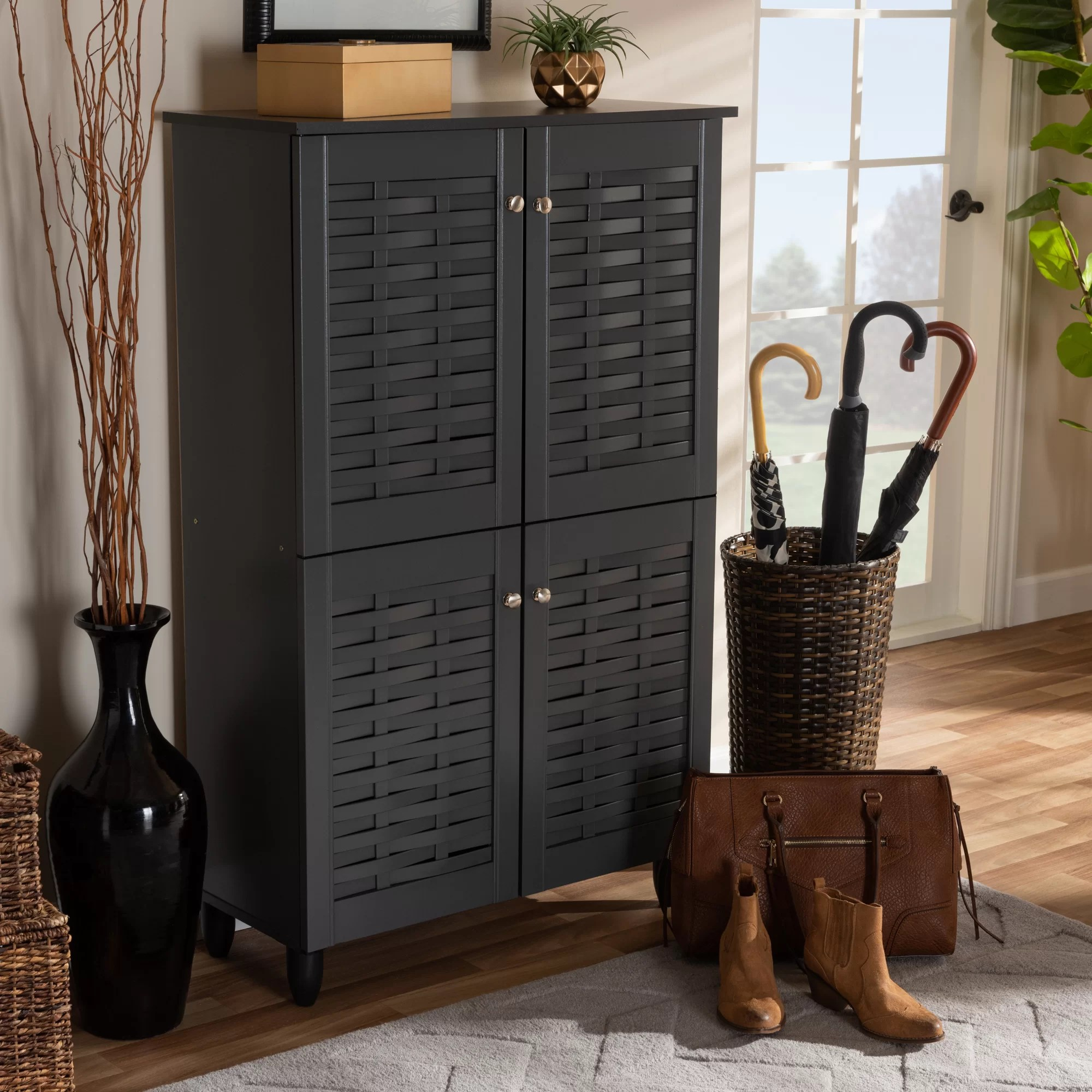 Entryway 18 Pair Shoe Storage Cabinet Reviews