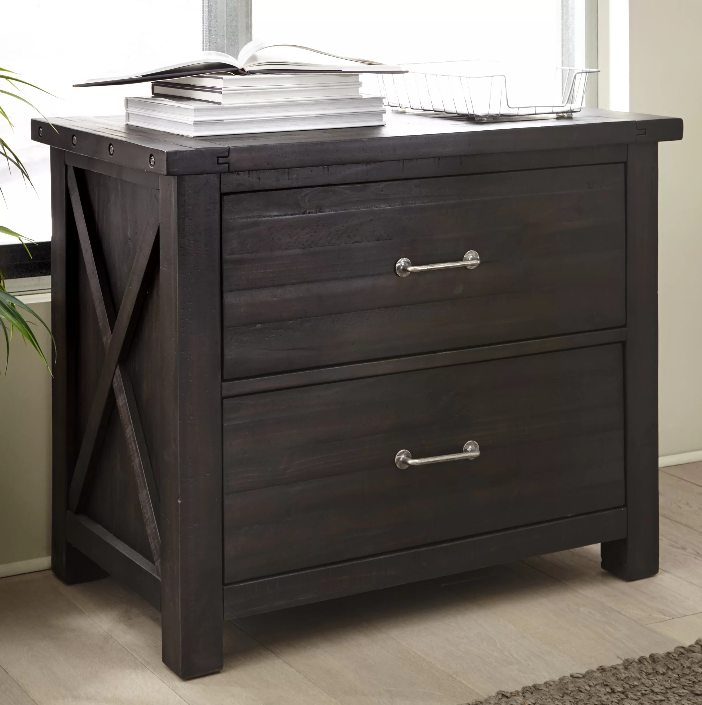 Laurel Foundry Modern Farmhouse Langsa Solid Wood 2 Drawer Lateral Filing Cabinet Reviews