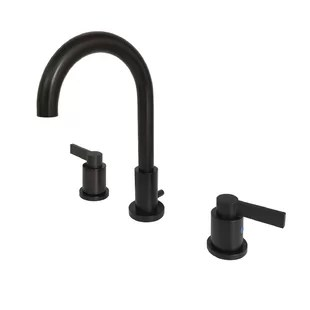 nuvo fusion widespread bathroom faucet with drain assembly