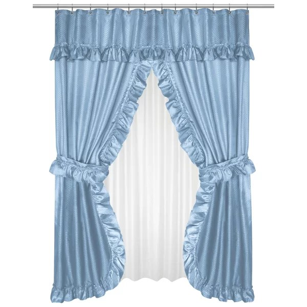double layer shower curtain