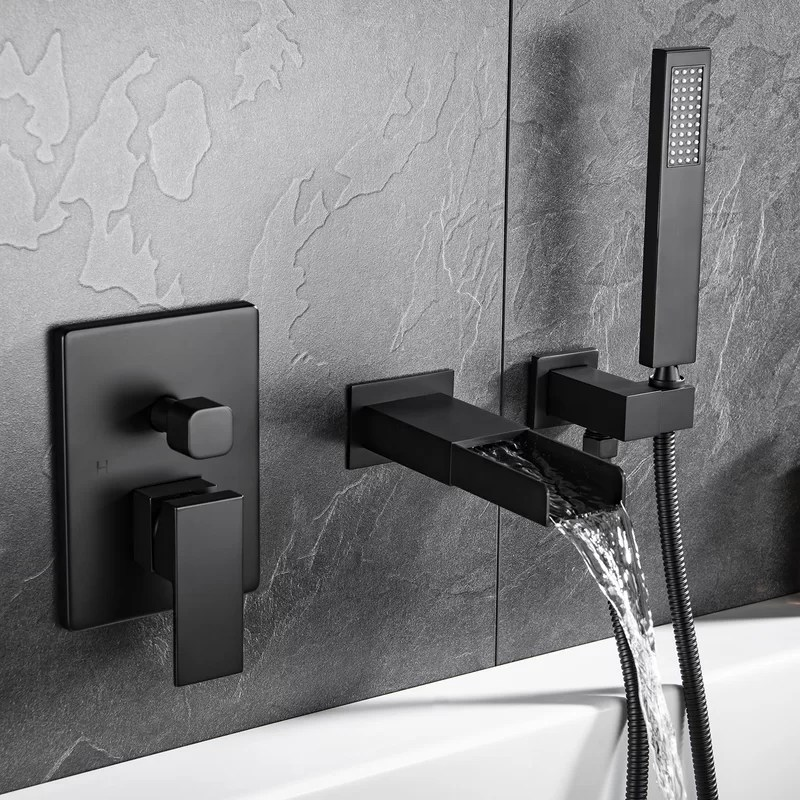 single handle wall mounted tub spout