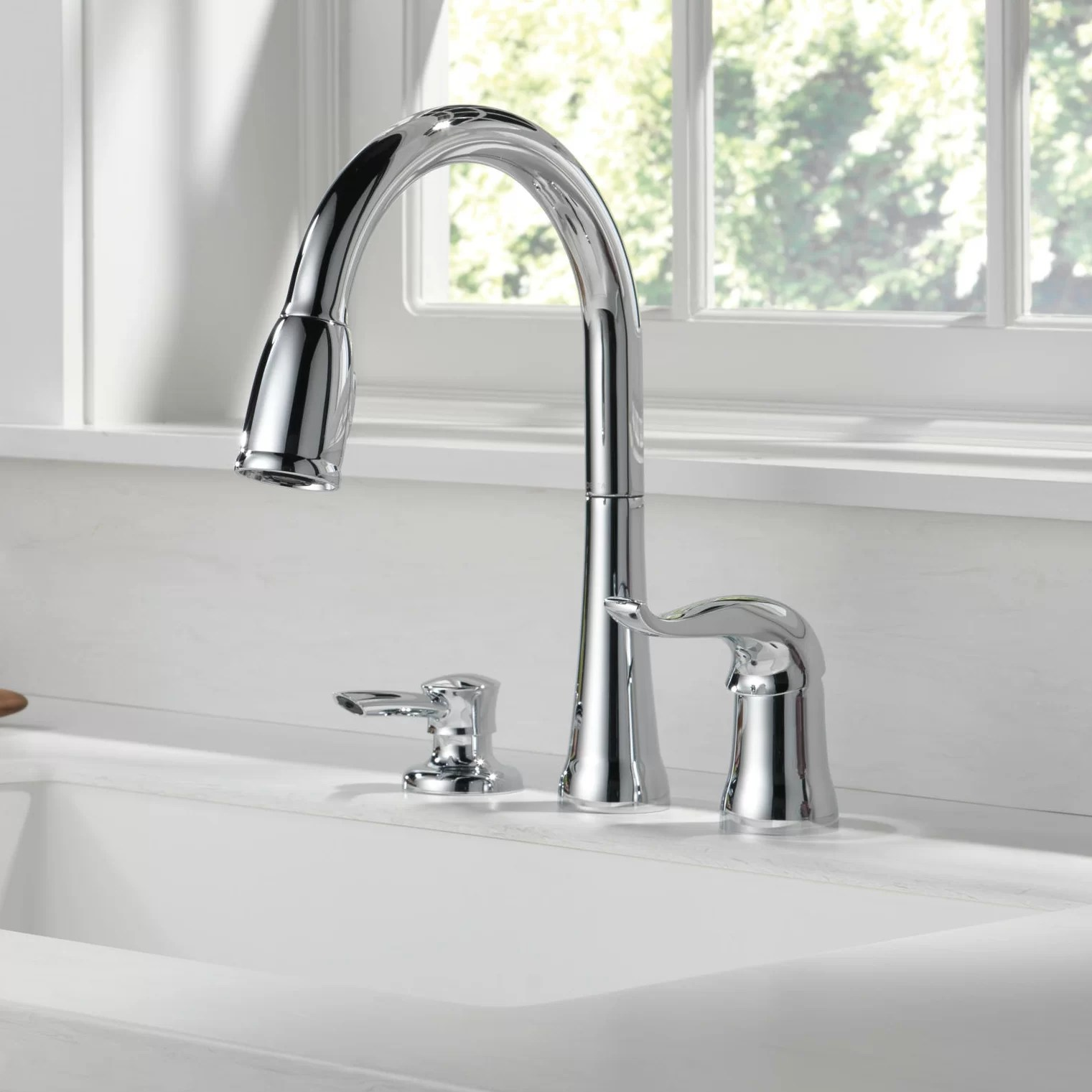 3 hole kitchen faucets free shipping