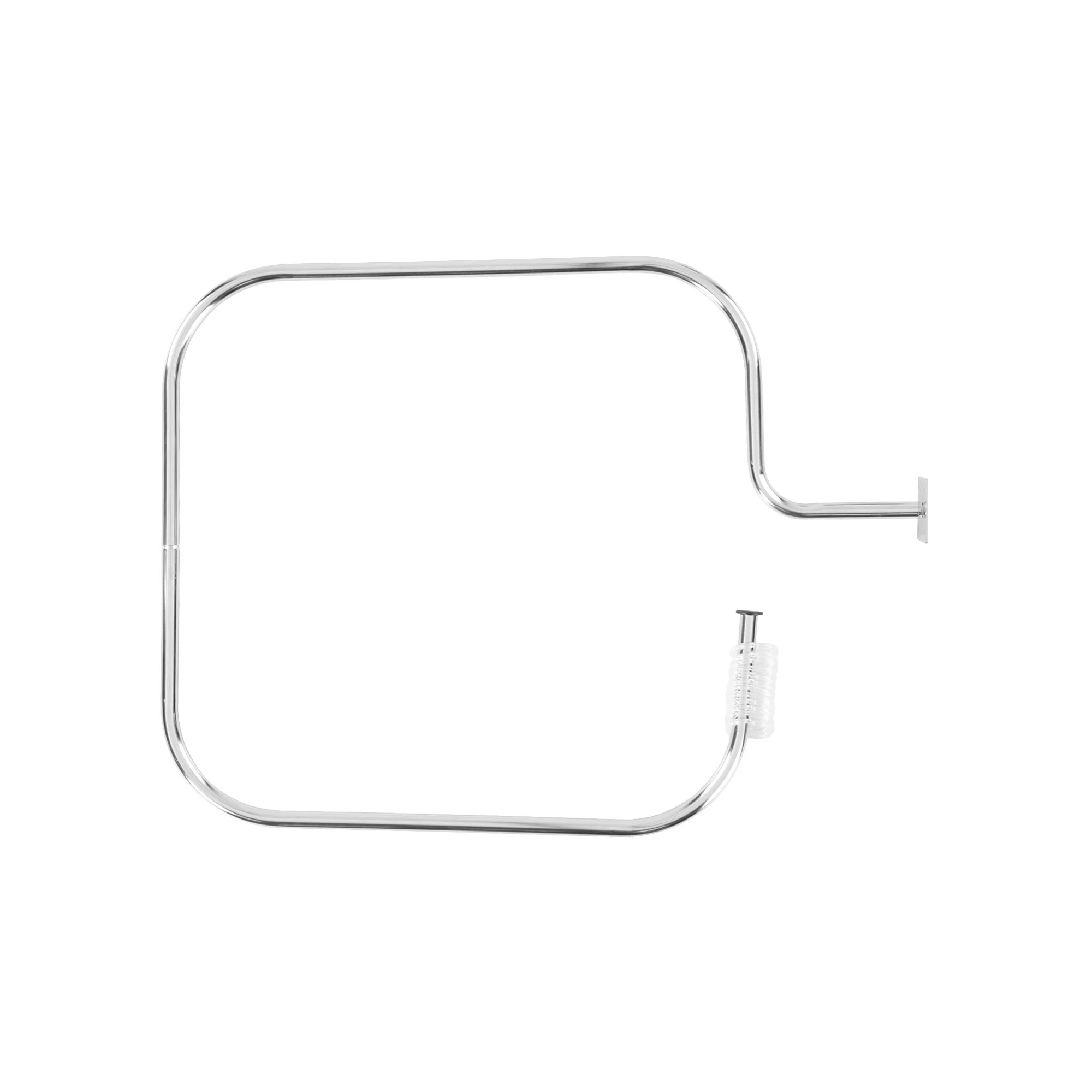 69cm rectangular fixed shower curtain rail ring set