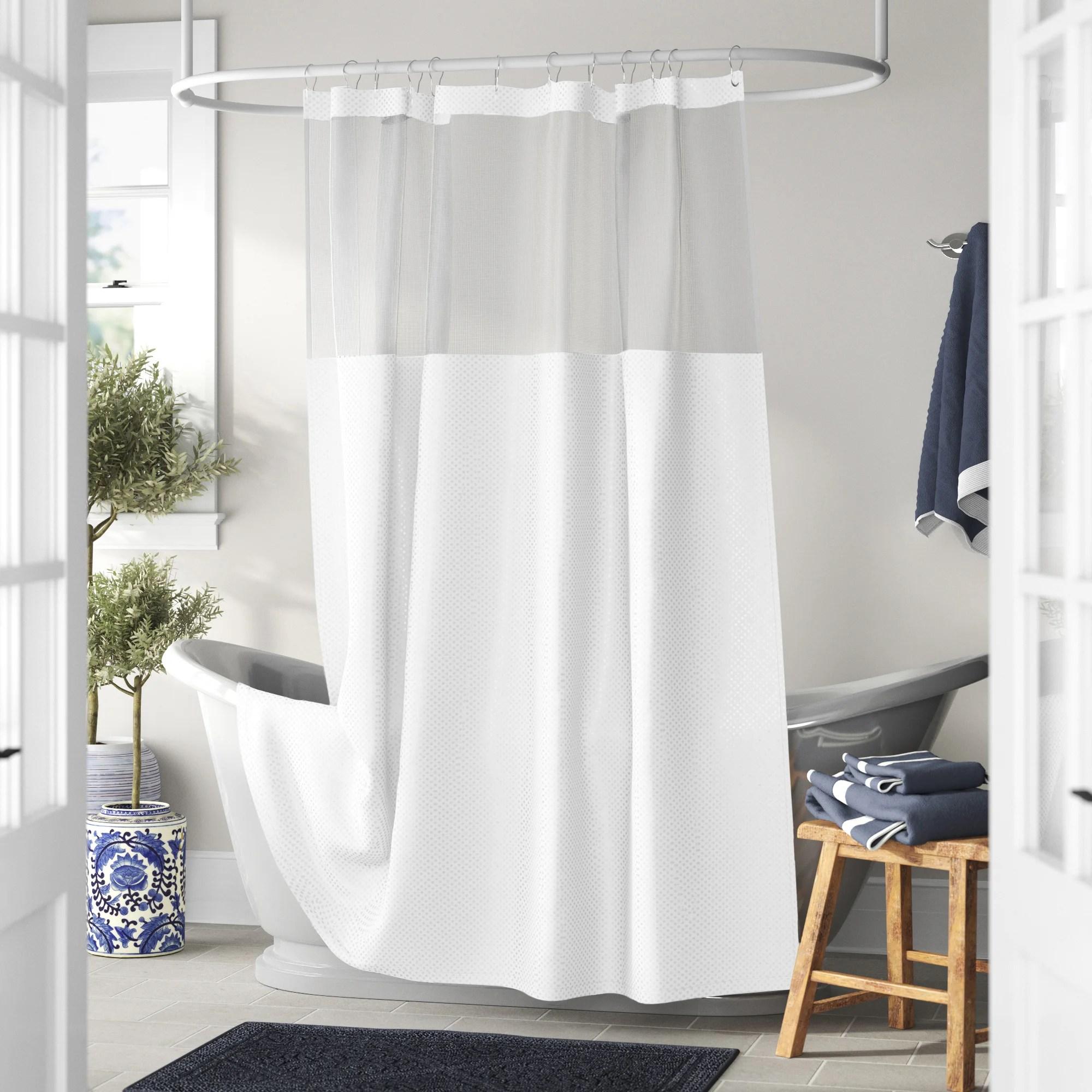 docia solid color single shower curtain