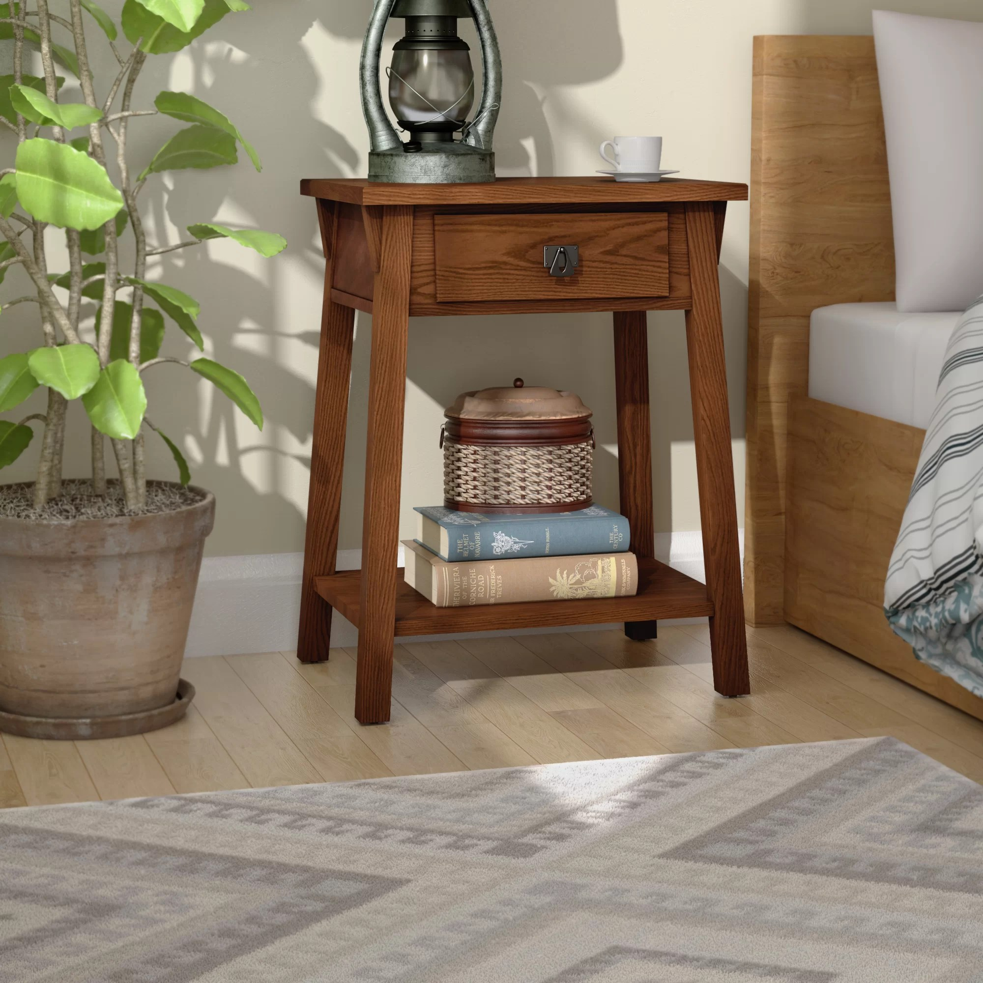 El Cerrito Mission Style 1 Drawer Nightstand