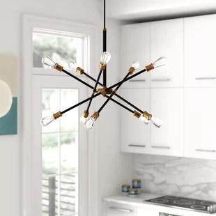 waycross 10 light unique modern linear chandelier