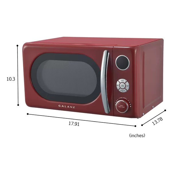 galanz retro 17 8 0 7 cubic feet cu ft 700 watt watt countertop microwave