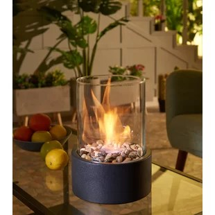 sophie metal bio ethanol outdoor tabletop fireplace with flame guard