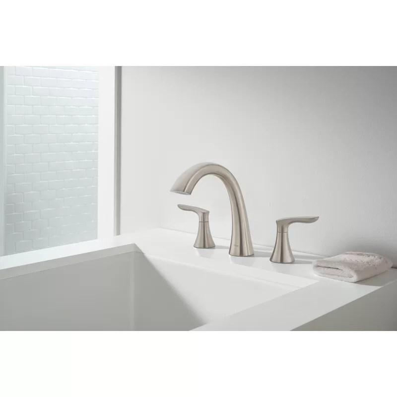 weller double handle deck mounted roman tub faucet trim