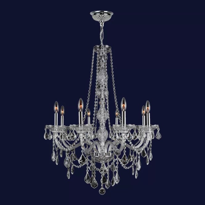 Doggett Traditional 8 Light Crystal Chandelier