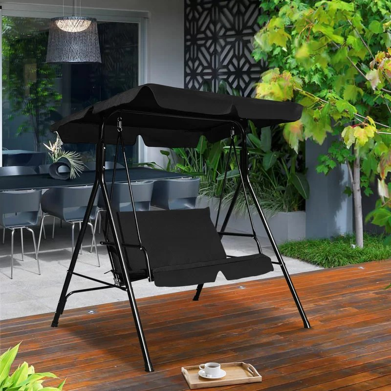 dillan patio glider hammock porch swing with stand