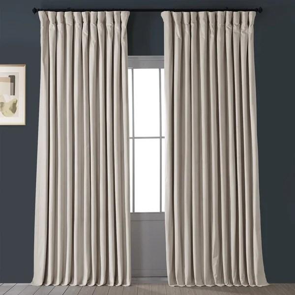 100 inch wide velvet curtains