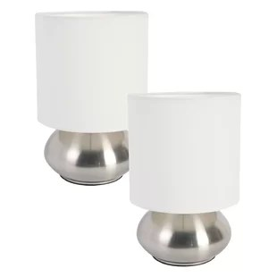 ariana mini touch 9 2 table lamp with drum shade set set of 2