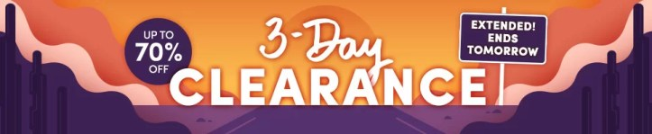 3-Day Clearance