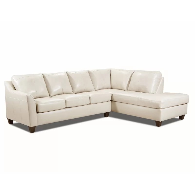 thy 113 wide leather match right hand facing sofa chaise
