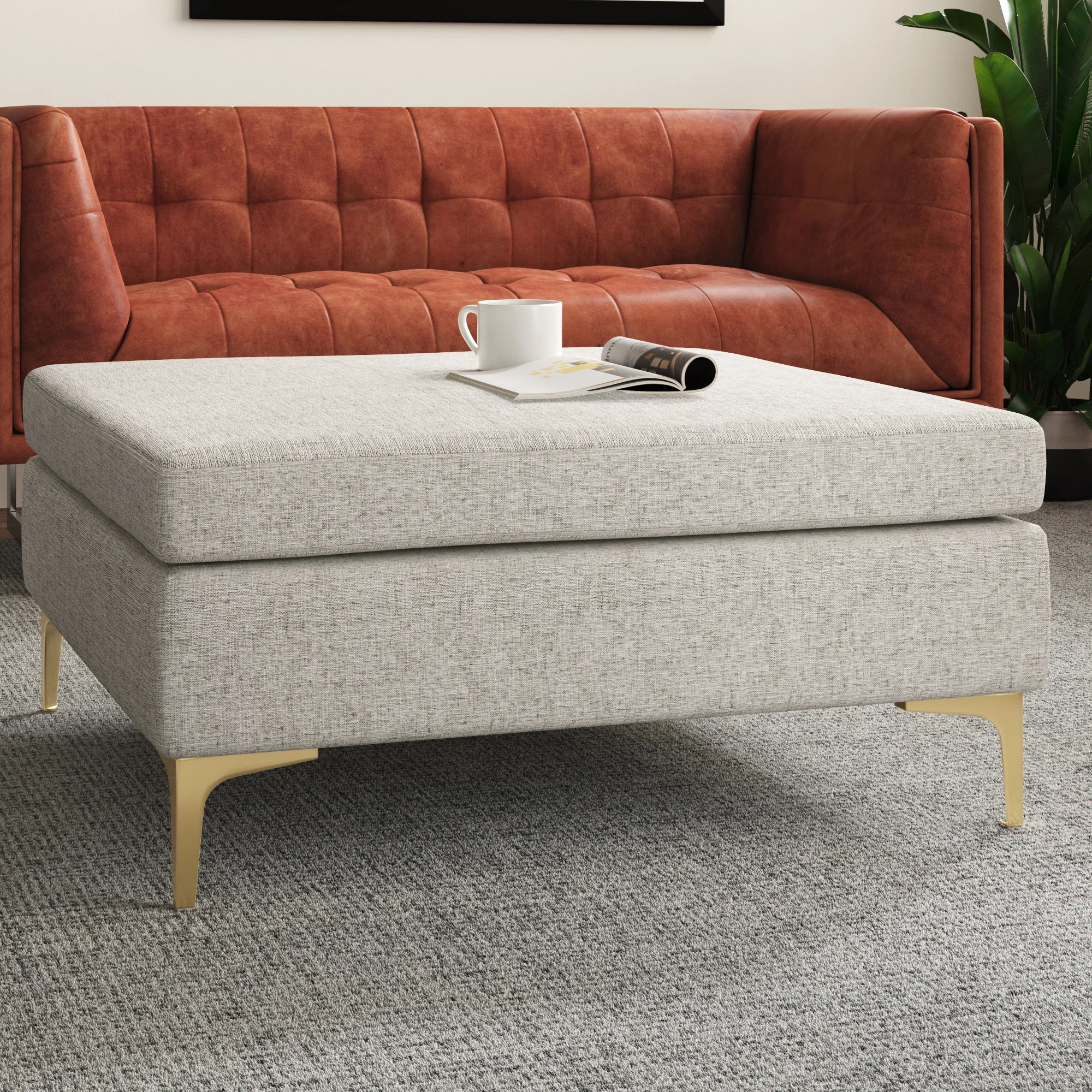 modern upholstered coffee tables