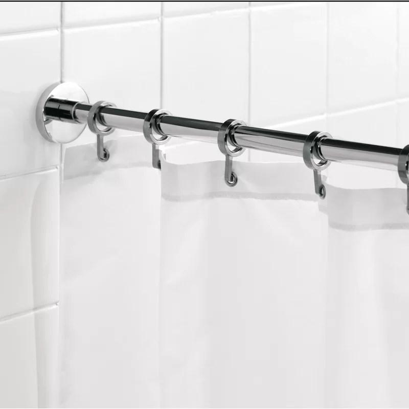 luxury 98 25 adjustable straight fixed shower curtain rod hook set