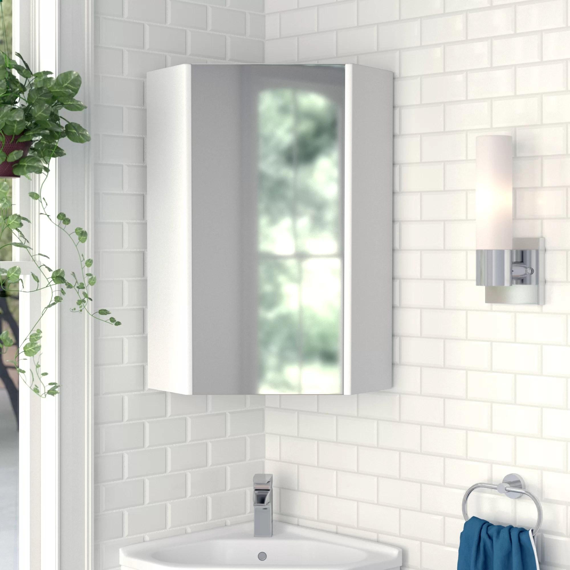 Zipcode Design Blythe 14 X 23 5 Corner Mount Medicine Cabinet Reviews