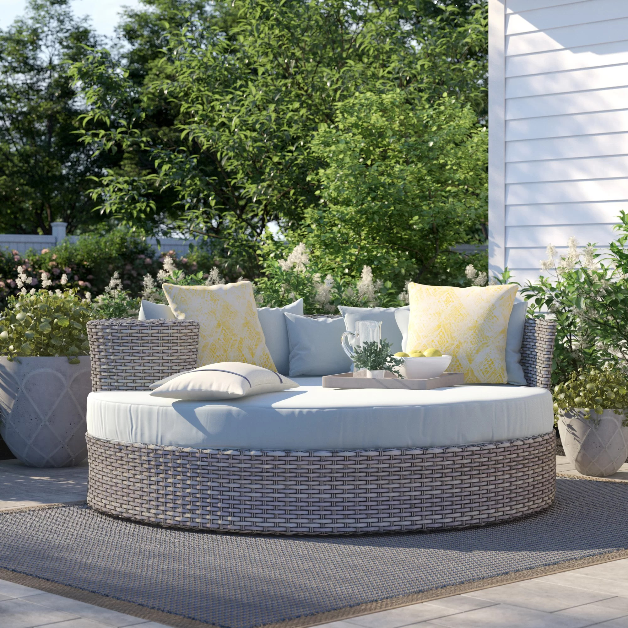 rochford 70 wide outdoor patio daybed with cushions