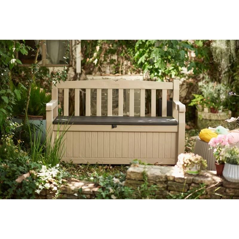 eden plastic storage bench