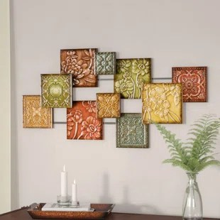 Metal Wall Art Hodges Square Panel Wall D    cor