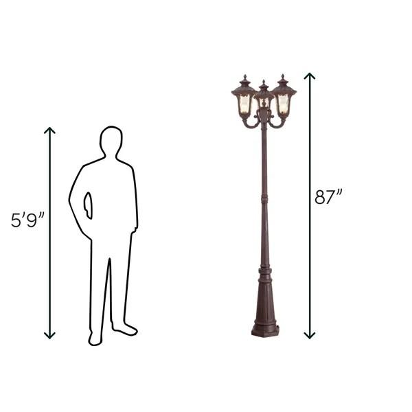 patriot 3 light 87 h lamp post full