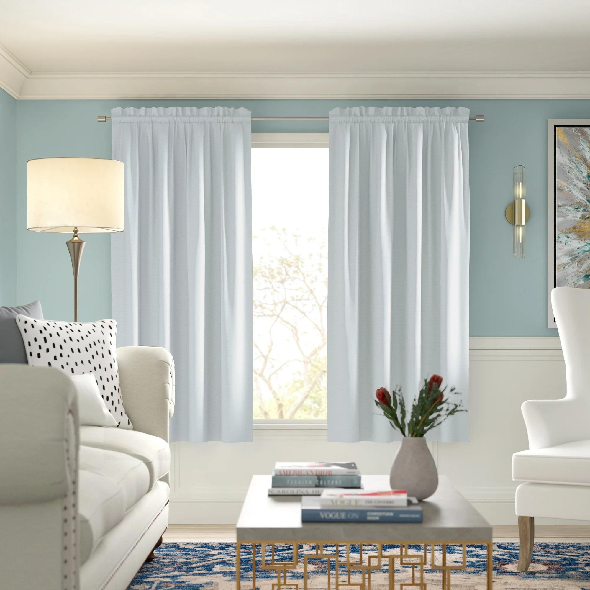 meadowbrook basketweave faux linen solid blackout back tab top curtain panels