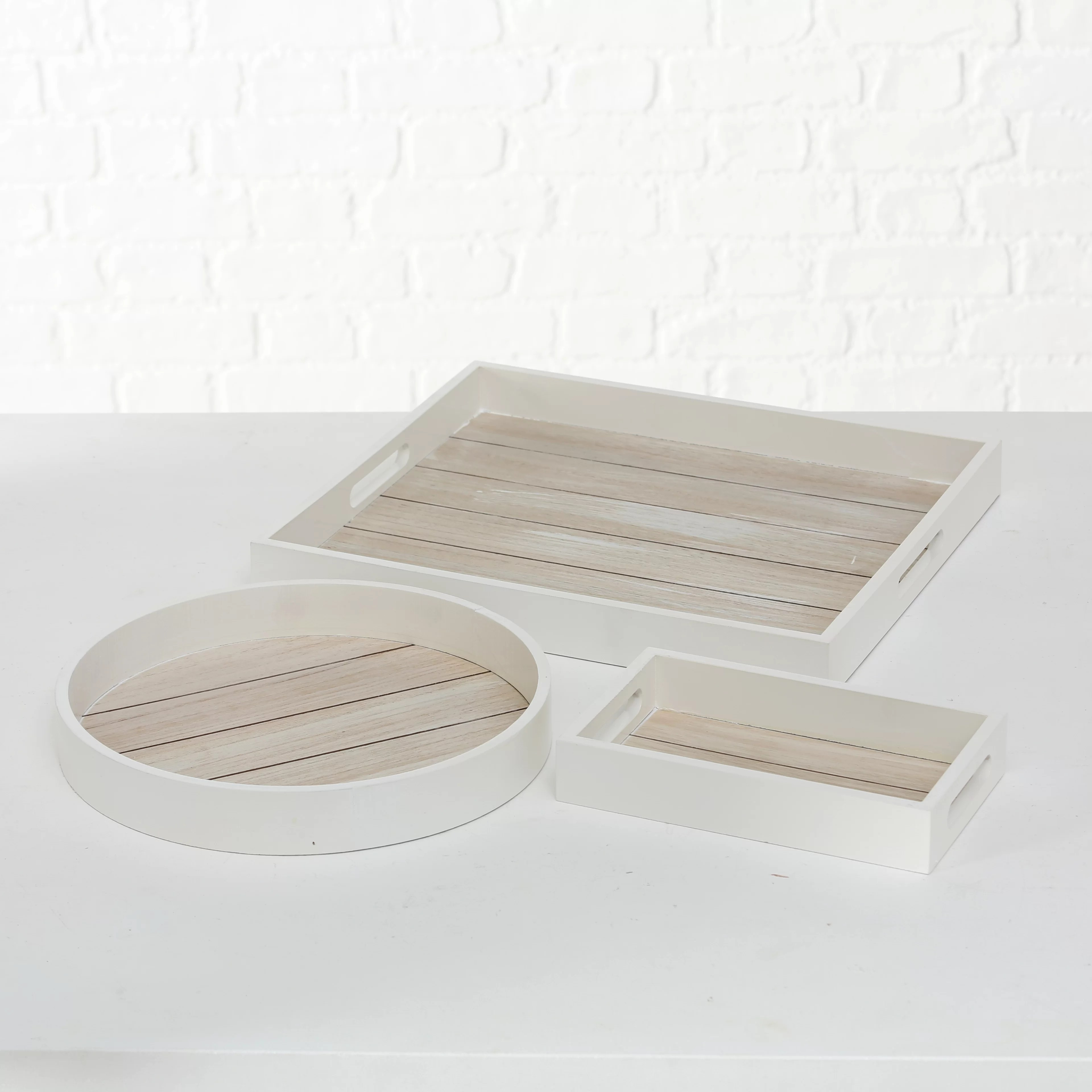 snyder 3 piece ottoman coffee table tray set