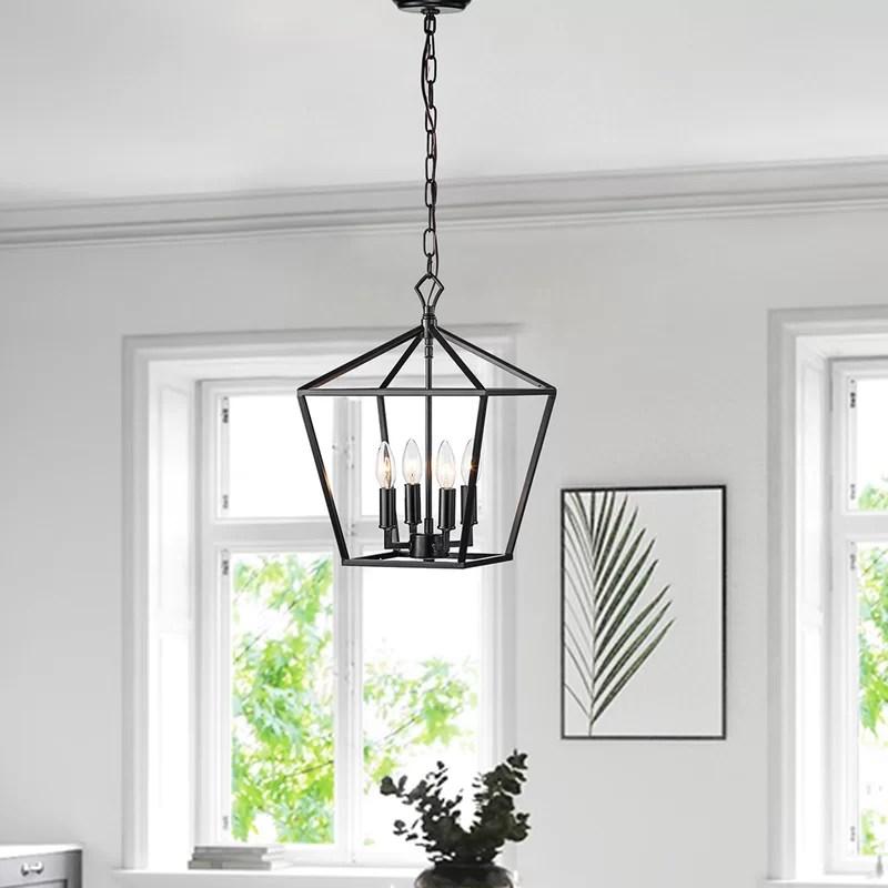 waldwick 4 light lantern geometric pendant