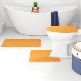 kober circle non slip solid bath rug set