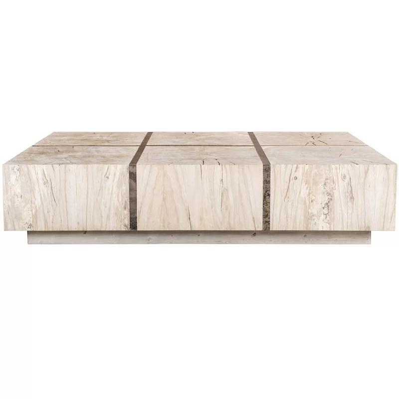 tacto solid wood block coffee table