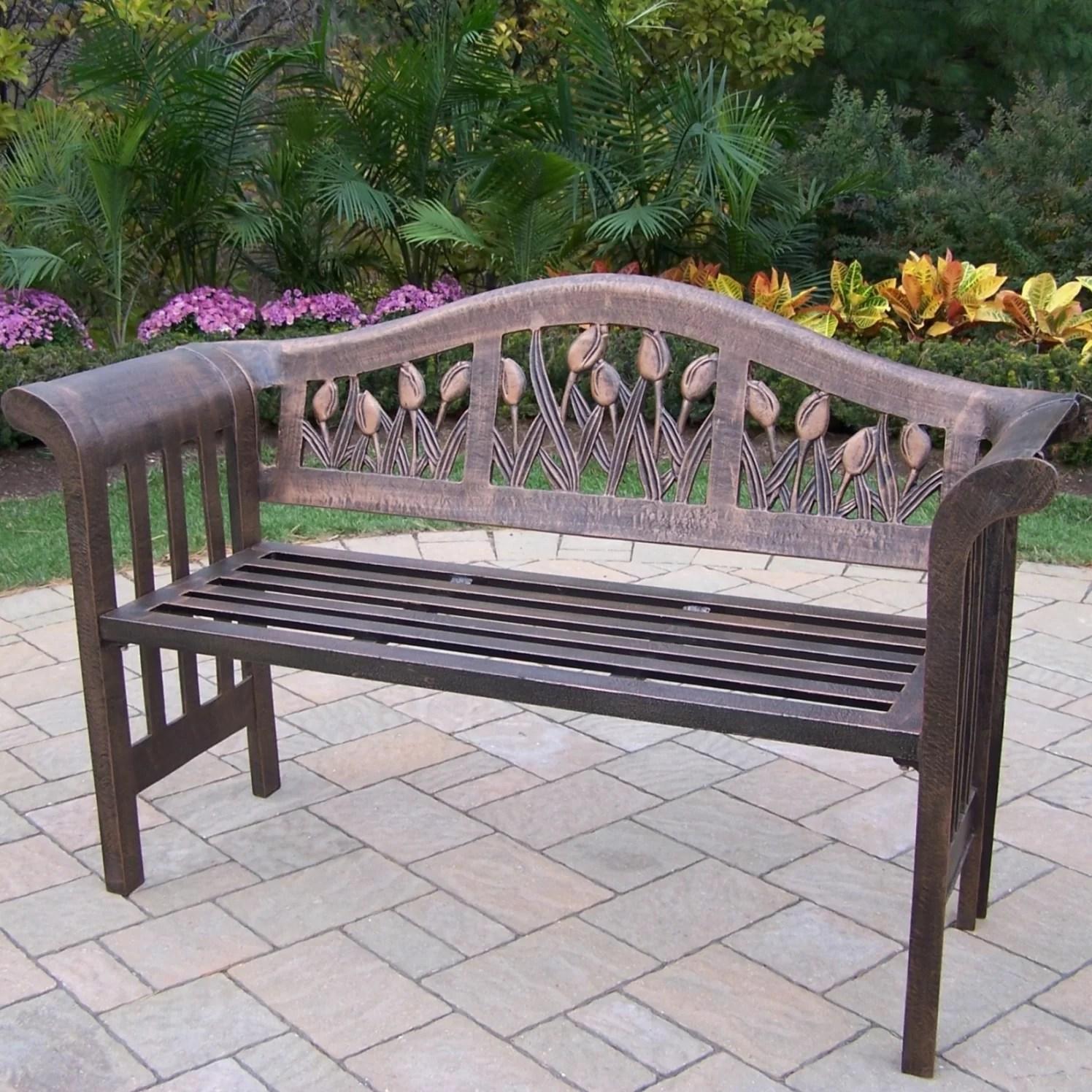 farrior aluminum garden bench