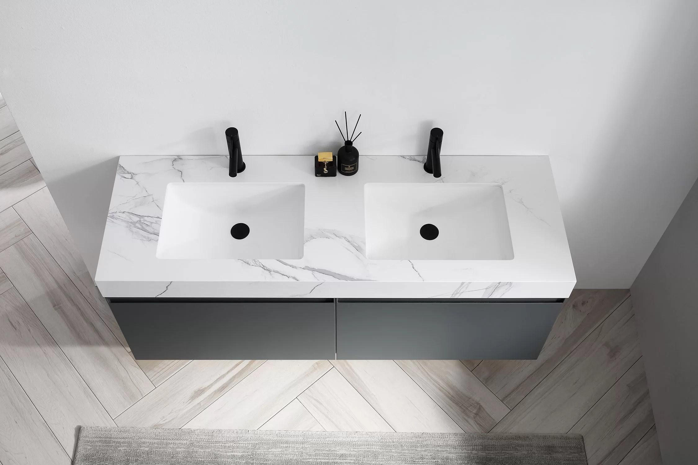 zayden 60 wall mounted double bathroom vanity set