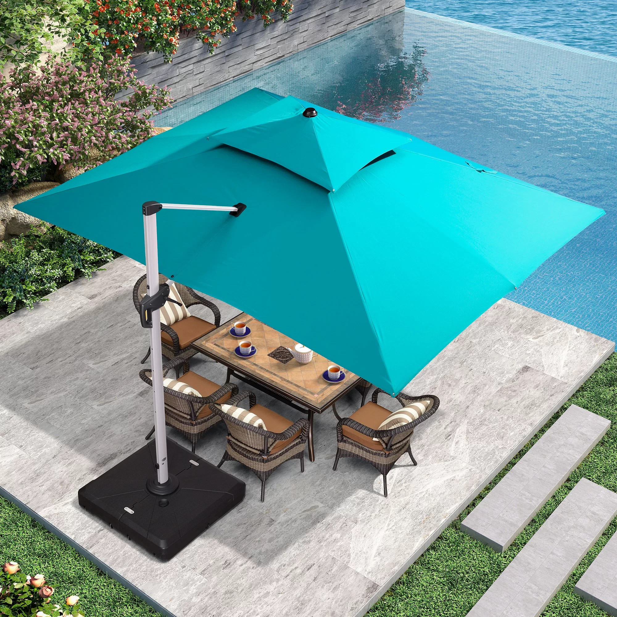 sim 118 1 x 157 4 rectangular umbrella