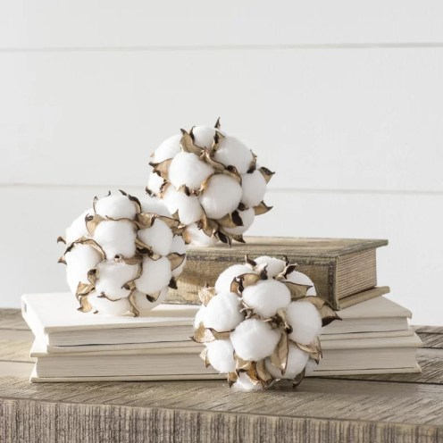Kingsville Cotton Ball Orbs Vase Filler