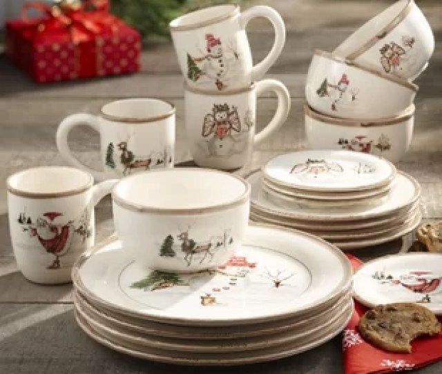 Christmas Twig  Piece Dinnerware Set Service For