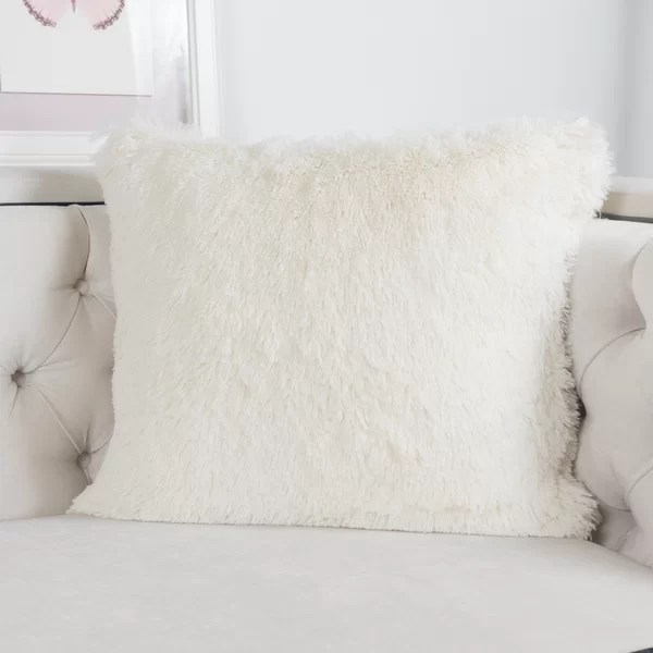 Kimmel Fur Double Side Luxury Fluffy Plush Throw Pillow