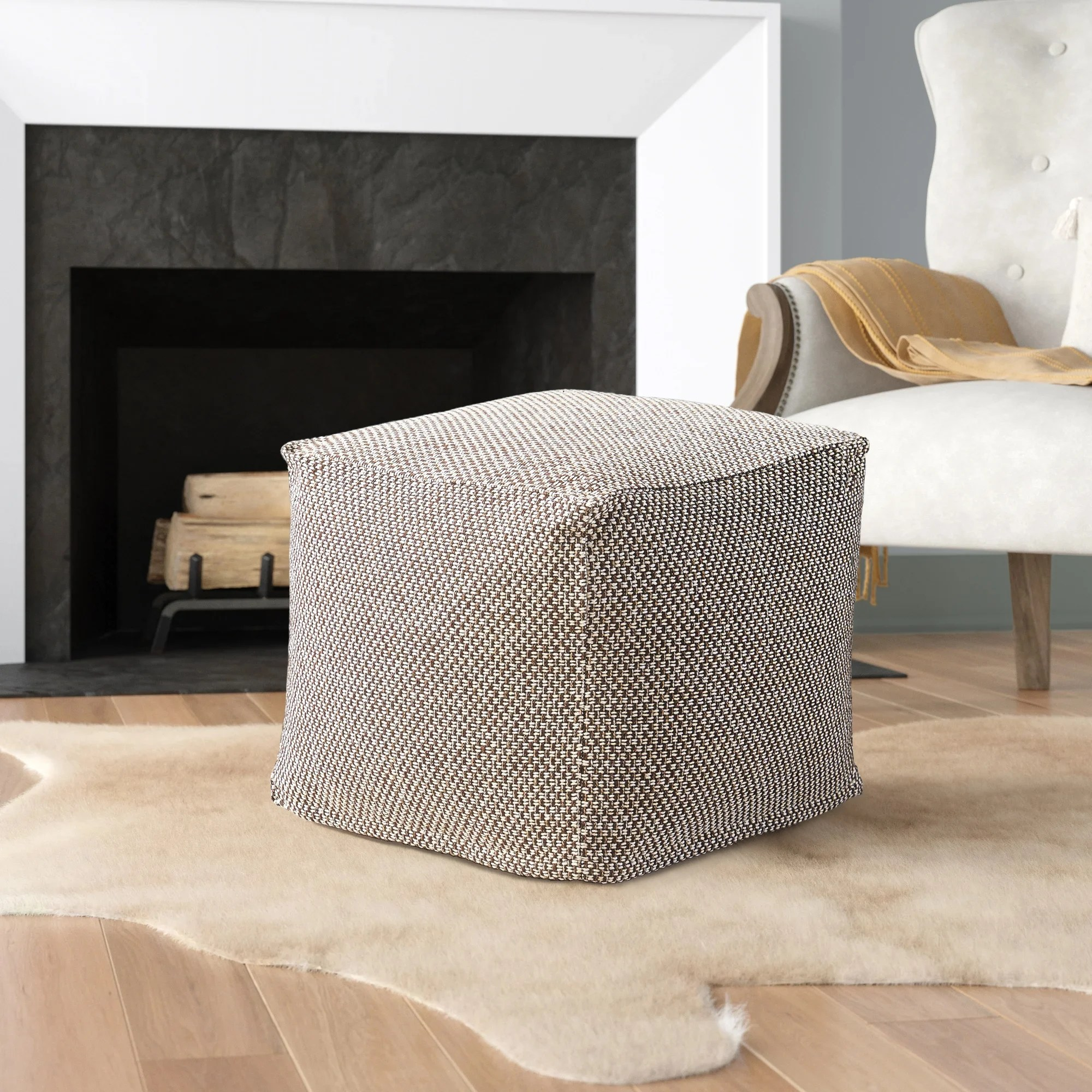 rustic ottomans poufs you ll love in