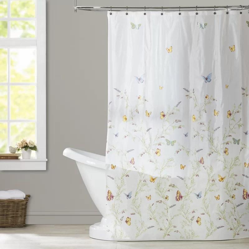rohde garden flight peva single shower curtain