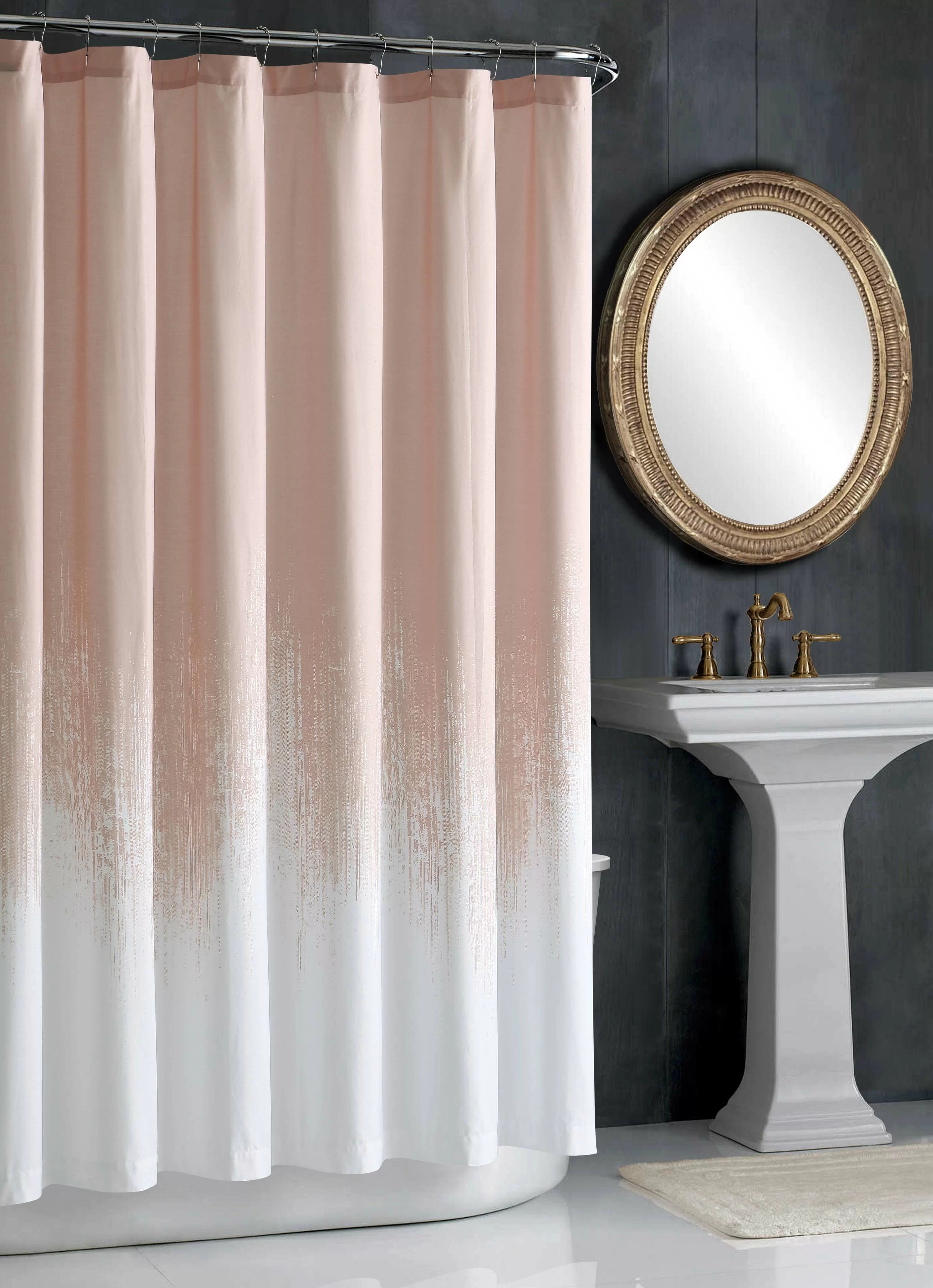 lyon blush cotton single shower curtain