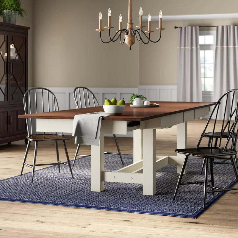 Audie Extendable Solid Wood Dining Table Reviews Birch Lane