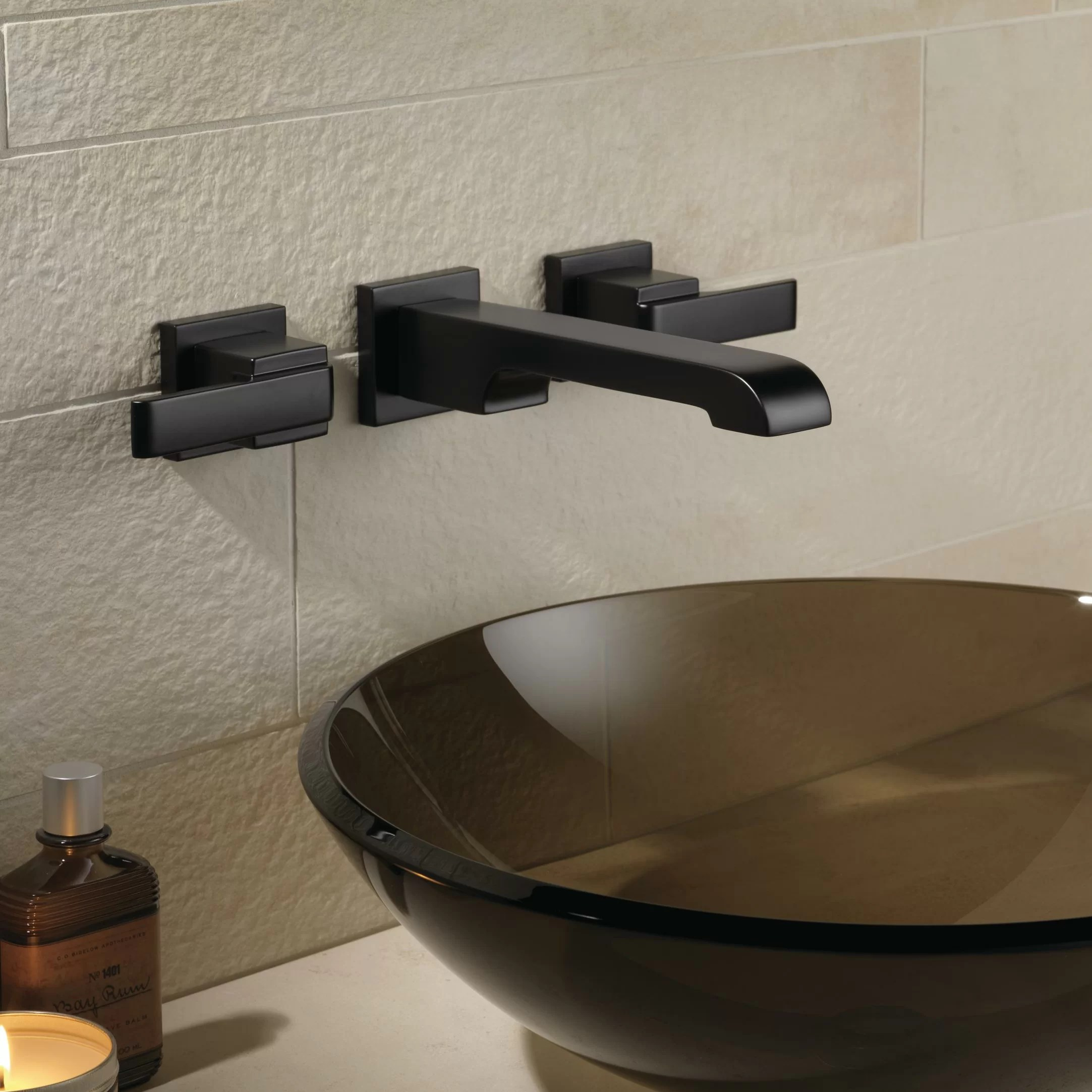 ara two handle wall mounted bathroom sink faucet reviews joss main